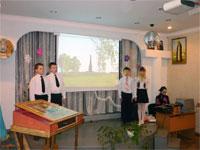 Выступление перед гостями