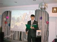 Ивашкин Михаил читает свое стихотворение о Бородинском сражении