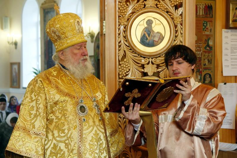 7 сентября в Кафедральном соборе Вознесения Господня Божественную Литургию возглавил Его Преосвященство Владыка Гурий