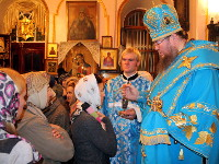 Архиерейское богослужение на праздник «Иверской» иконы Пресвятой Богородицы