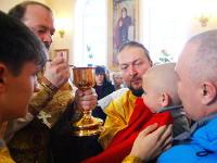 Архиерейское богослужение в кафедральном соборе Вознесения Господня в неделю 23-ю