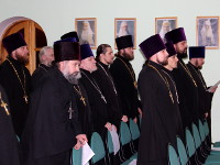 Архиерейское богослужение в кафедральном соборе на праздник святой великомученицы Варвары