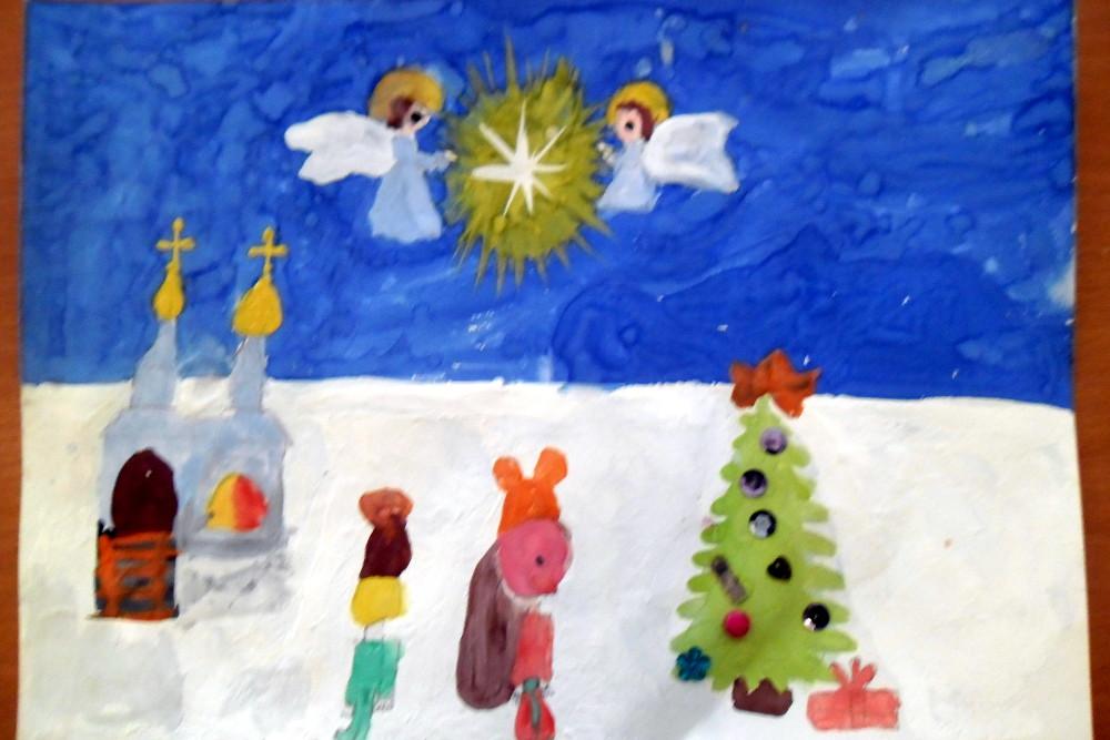 Кудрявцева Дарья, 7 лет, Звезда зажглась, гуашь, А3