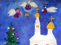Чигирина Вероника, 7 лет, Рождество, гуашь, А3