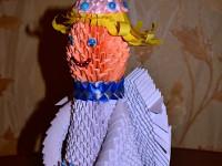 Женжера Софья, 7 лет, Рождественский ангел, модульное оригами с элементами цумами канзаши, 30 см