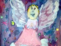 Драгальцев Артём, 7 лет, Рождественский ангел, Б., смешанная техника