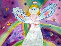Левчук Анжелика, 8 лет, Рождественский ангел, Б., смешанная техника