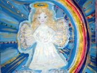 Пархоменко Кристина, 10 лет, Рождественский ангел, Б., смешанная техника