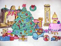 Заиченко Артём, 9 лет, Здравствуй, Рождество, цветные карандаши, А3