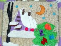 Ахмерова Вика, 6 лет, Волшебная ночь, ниткография, 29 см х 25 см
