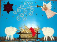 Волкодав Лена, 6 лет, Снег идёт – и волшебство в этот день случиться может, коллаж, А3
