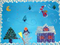 Жансарина Диана, 6 лет, Весёлого рождества, квилинг, А3