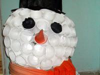 Кайроллина Мадина, 4 года, Хоть дорога не легка,… манит даль снеговика, конструирование из бросового материала, объём