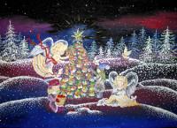 Дмитриенко  Дарья, 13 лет, Рождество, гуашь, А3