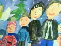 Гнатюк Софья, 8 лет, Праздничное настроение, гуашь, А3