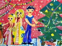 Плотникова София, 8 лет, Украшение елки, гуашь, А3