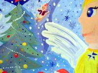 Мартынова Ульяна, 8 лет, Под крылом у ангелов, гуашь, А3