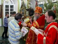 В первое богослужение 2015  года 18 человек приняли обет трезвости