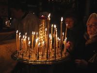 Архиерейское служение в новогоднюю ночь в храме Всех Святых