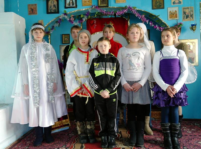 Рождество в Свято-Никольском храме с. Новоникольское