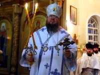 В день Собора Пресвятой Богородицы епископ Петропавловский и Булаевский Владимир совершил Божественную Литургию в кафедральном соборе Вознесения Господня