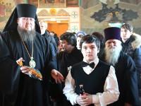 Епископ Владимир совершил Божественную Литургию в Свято-Никольском кафедральном соборе г. Булаево в неделю по Рождестве Христовом