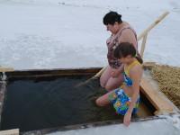 Чин Великого освящения воды в селе Новоникольское в праздник Крещения Господня