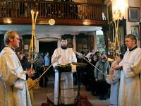 Лазарева суббота. Епископ Петропавловский и Булаевский Владимир совершил Литургию в храме Всех Святых