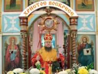 В среду Светлой седмицы епископ Петропавловский и Булаевский возглавил Божественную Литургию в Свято-Никольском храме села Новоникольское