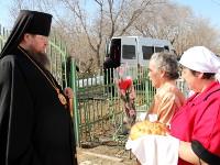 Пасхальный молебен в храме в честь иконы Божией Матери «Спорительница хлебов» села Повозочное