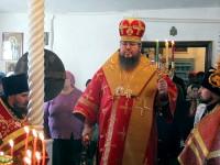 Пасхальная Вечерня в храме прп. Сергия Радонежского города Сергеевка