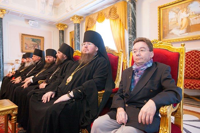 Патриарх Иерусалимский Феофил принял группу паломников из Казахстана во главе с митрополитом Астанайским и Казахстанским Александром