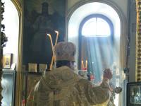 Правящий Архиерей совершил Божественную Литургию посвященную окончанию площадки в храме Всех Святых города Петропавловска