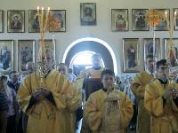 Епископ Петропавловский и Булаевский Владимир совершил Божественную Литургию в кафедральном соборе Вознесения Господня города Петропавловска