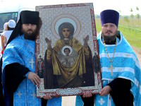 Крестный ход с иконой Божией Матери «Знамение Абалацкая»