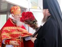 Епископ Петропавловский и Булаевский Владимир совершил Божественную Литургия в храме священномученика Мефодия епископа Петропавловского