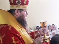 Епископ Петропавловский и Булаевский Владимир совершил Божественную Литургию в храме священномученика Мефодия, епископа Петропавловского