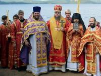 Епископ Петропавловский и Булаевский Владимир возглавил богослужение в храме целителя Пантелеймона поселка Бурабай
