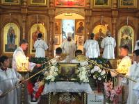 Праздник Преображения Господня. Преосвященнейший Владимир возглавил Литургию в кафедральном соборе Вознесения Господня