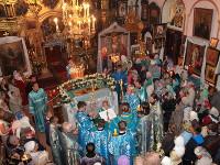 Епископ Петропавловский и Булаевский совершил чин Погребения Божией Матери в храме Всех Святых города Петропавловска