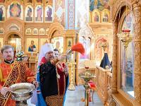 Епископ Петропавловский и Булаевский Владимир принял участие в освящении новосозданных росписей Софийского собора Иверско-Серафимовского монастыря города Алма-Аты