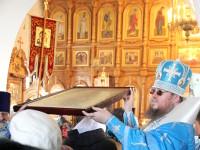 В праздник Покрова Пресвятой Богородицы епископ Петропавловский и Булаевский Владимир совершил Божественную Литургию в кафедральном соборе Вознесения Господня