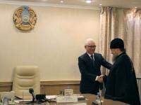 Глава митрополичьего округа в Республике Казахстан встретился с акимом Северо-Казахстанской области