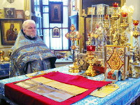 В неделю 27-ю по Пятидесятнице епископ Петропавловский и Булаевский Владимир возглавил Божественную Литургию в храме Всех святых