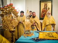 Епископ Петропавловский и Булаевский Владимир принял участие в Божественной лиртургии в домовом храме Митрополичьего округа