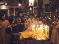 19 декабря 2015 года день памяти святителя Николая, архиепископа Мирликийского, чудотворца. Божественную Литургию в честь праздника возглавил Преосвященнейший Владимир, епископ Петропавловский и Булаевский в храме Всех Святых