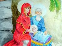 Рождение Христа. Белоног Наталья. Саумалколь, Айыртауский район. ШГ №2