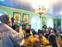 Престольный праздник крестильного храма Иоанна Кронштадтского города Петропавловска