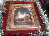 «Христос рождается— славите! Христос снебес— встречайте! Христос наземле— возноситеся!»