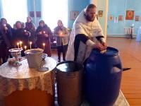 Чин Великого освящения воды в селе Большой Изюм в праздник Крещения Господня